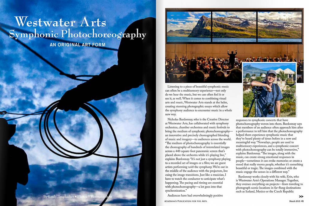"Louisiana's ""Overture"" Magazine Features Westwater Arts"