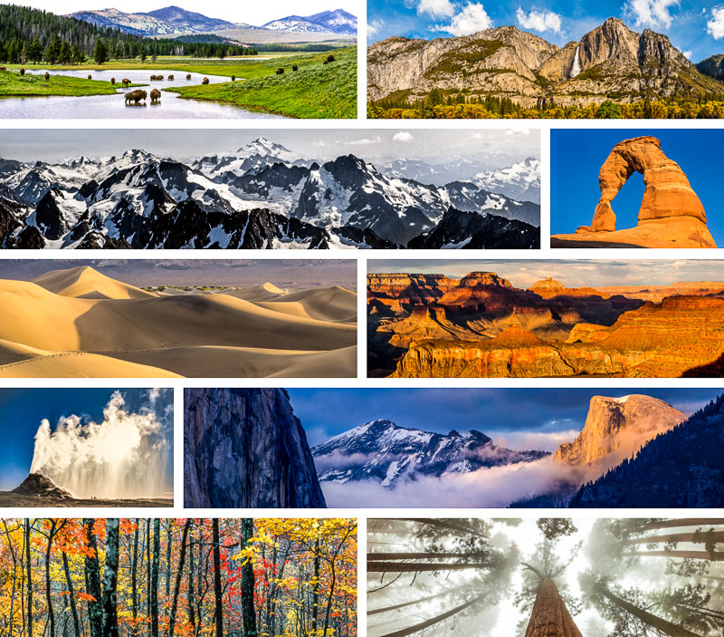 Click to view sample images from National Park Suite